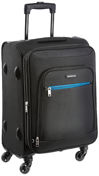 Aristocrat Nile Polyester 54 cms Black Soft Sided Carry-On best trolley bags under 2000