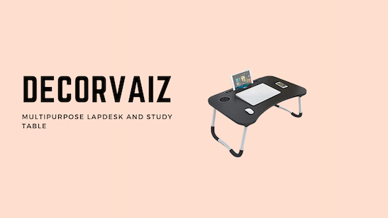 decorvaiz reading table with phone docking stand
